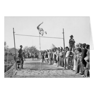 Jerusalem Pole Vault, 1930s Card