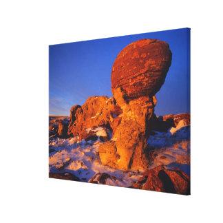 Jerusalem Rocks in Winter near Sweetgrass Canvas Prints