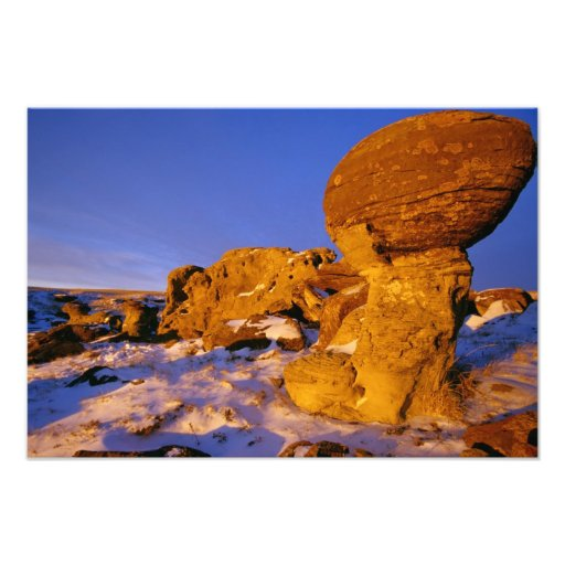 Jerusalem Rocks in Winter near Sweetgrass Photo Print