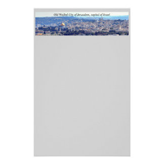 Jerusalem stationary stationery