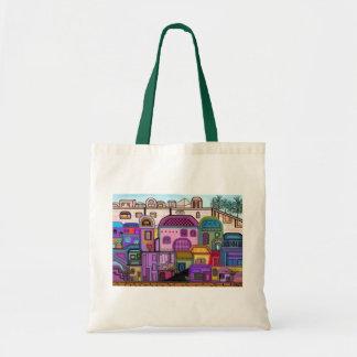 Jerusalem Tapestry Canvas Tote Budget Tote Bag