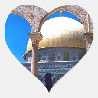 Jerusalem, the Dome of the Rock Heart Sticker