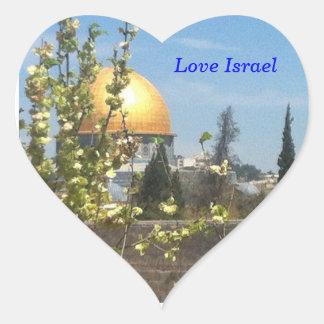 Jerusalem - The Temple Mount Heart Sticker