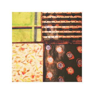 Jerusalem Tile Stretched Canvas Print