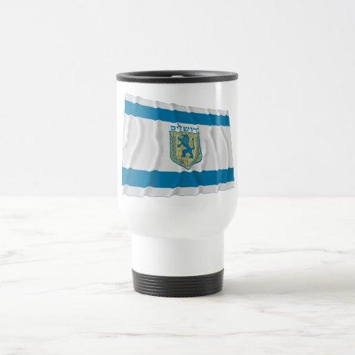 Jerusalem Waving Flag Coffee Mug