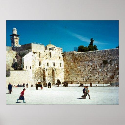 Jerusalem, Western Wall Poster