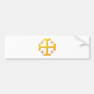 Jerusalemkreuz CROSS Jerusalem Bumper Sticker