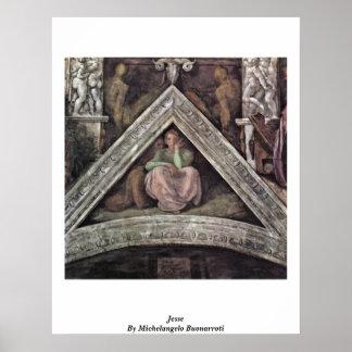 Jesse By Michelangelo Buonarroti Posters