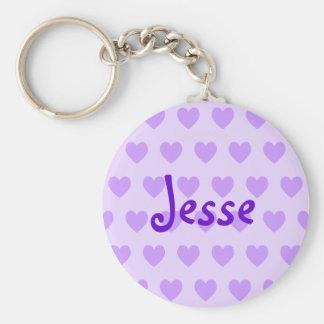 Jesse in Purple Key Ring