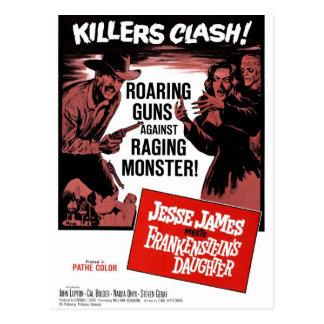 Jesse James Meets Frankenstein s Daughter Postcard