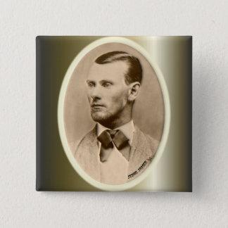 Jesse James Outlaw Bank Robber 15 Cm Square Badge