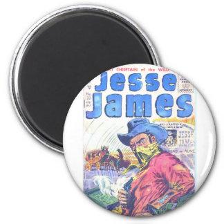 Jesse James Outlaw Refrigerator Magnet