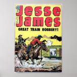 Jesse James Train Robbery Poster
