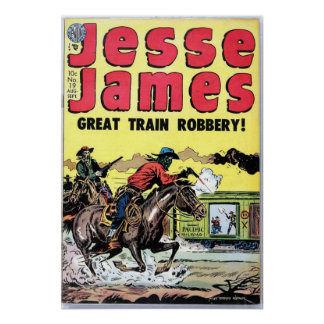 Jesse James Train Robbery Poster
