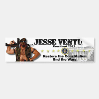 Jesse Ventura 2012 - Restore the Constitution Bumper Sticker