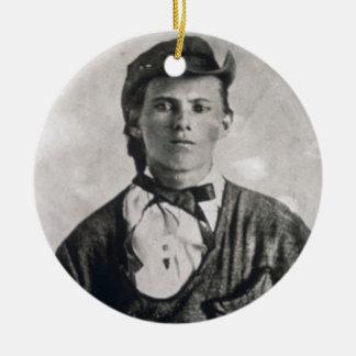 Jesse Woodson James (b/w photo) Christmas Ornament