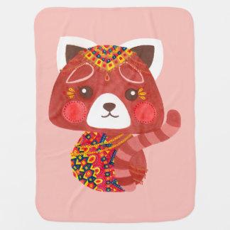 Jessica, The Cute Red Panda Baby Blanket