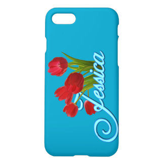 Jessica's Phone case with Tulips
