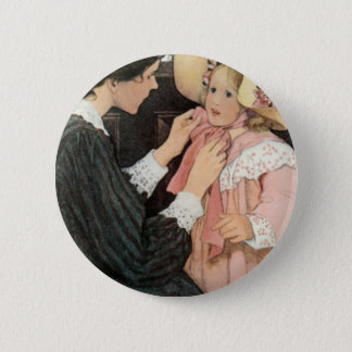 Jessie Willcox Smith Mother Child Mother's Day 6 Cm Round Badge