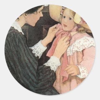 Jessie Willcox Smith Mother Child Mother's Day Classic Round Sticker