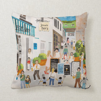 Jessies Dairy in Mousehole Cushion