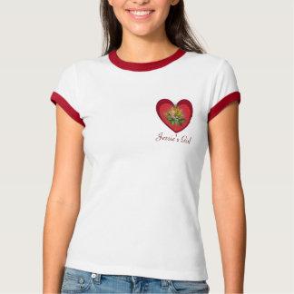 Jessie's Girl (customizable text) Rose Heart Tee Shirt