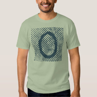 """Jessie's Letter """"O"""" Monogram T-Shirt with Halftone"""