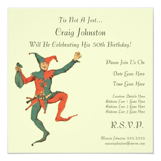 Jester Birthday Party Card