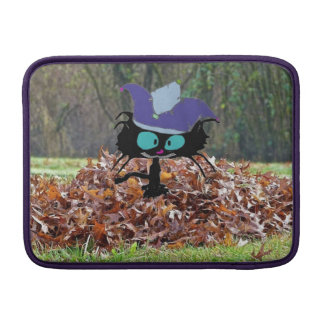 Jester Cat Plays On A Fall Day MacBook Sleeve