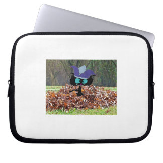 Jester Cat Plays On A Fall Day Laptop Computer Sleeve