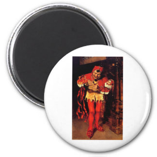 jester-clip-art-2 6 cm round magnet