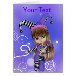 Jester Girl Greeting Card