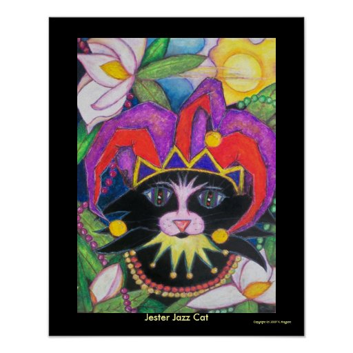 Jester Jazz Cat Poster
