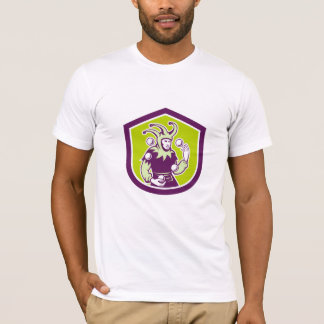 Jester Juggling Ball Shield Retro T-Shirt