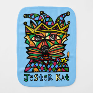 """Jester Kat"" Burp Cloth"