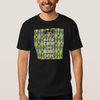 Jester Mask Keep Calm and Mardi Gras T-shirts