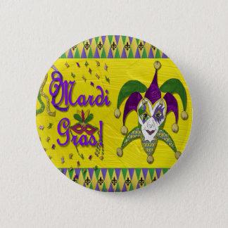 Jester Mask Mardi Gras Harlequin 6 Cm Round Badge