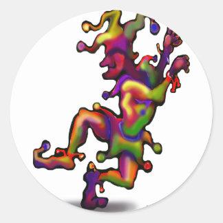 Jester Round Sticker
