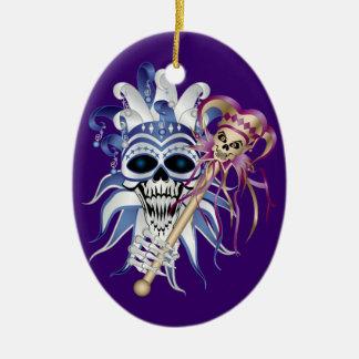 Jester Skull Christmas Ornament