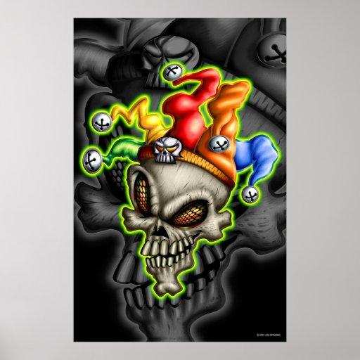 Jester Skull (Poster) Poster