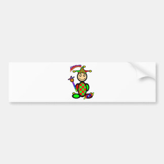 Jester (with logos) bumper sticker