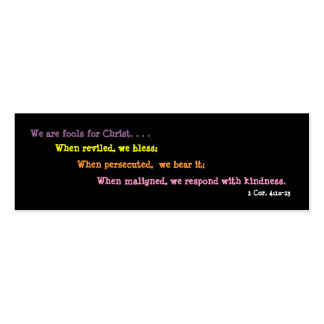 Jesters For Christ Bookmark (2 sided) Pack Of Skinny Business Cards