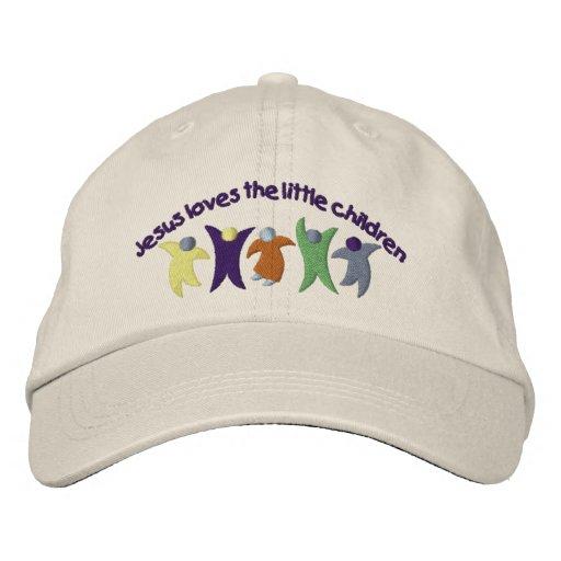 Jesuc Loves Children Embroidered Baseball Caps