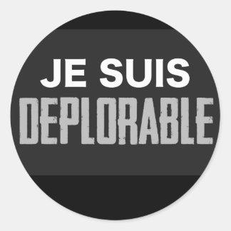 JeSuisDeplorable Classic Round Sticker
