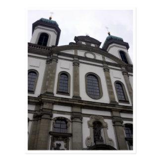 jesuit church front postcard