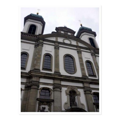 jesuit church front postcards