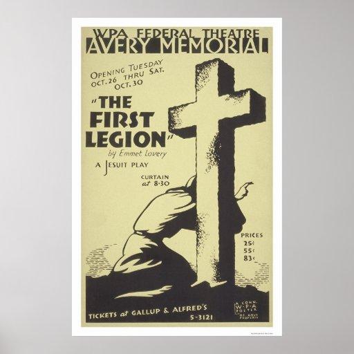 Jesuit First Legion 1937 WPA Poster