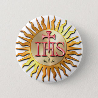 Jesuit Seal 6 Cm Round Badge
