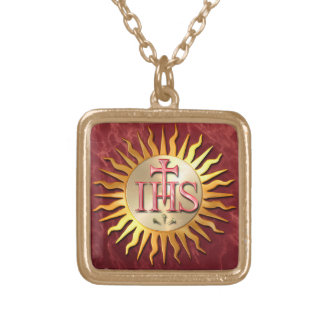 Jesuit Seal Gold Plated Necklace
