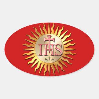 Jesuit Seal Oval Sticker
